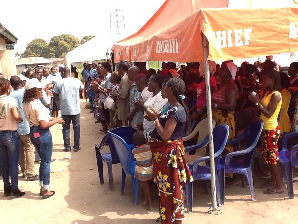 Prayer session at the commencement of each outreach