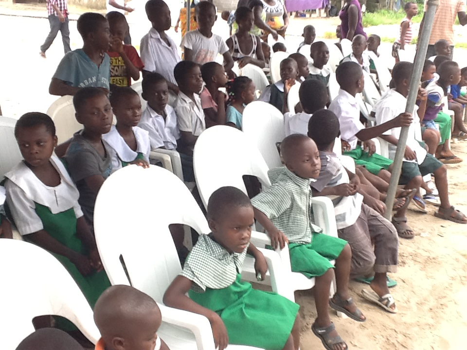 Pupils of Fiyewei Primary school Oporoza at the free medical mission